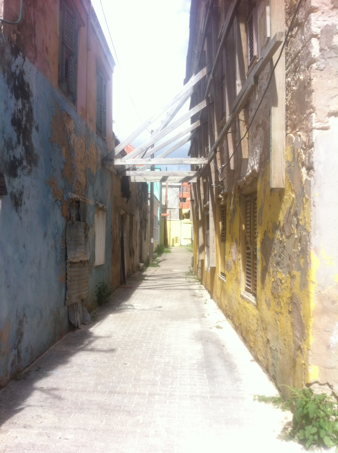 The back alleys of Otrobanda are full of treasured historic buildings.