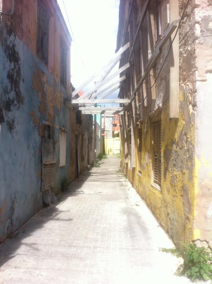 The back alleys of Otrobanda are full of treasured historic buildings.