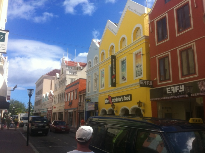 Excellent shops line the many streets of the Punda quarter in Willemstad, Curacao.