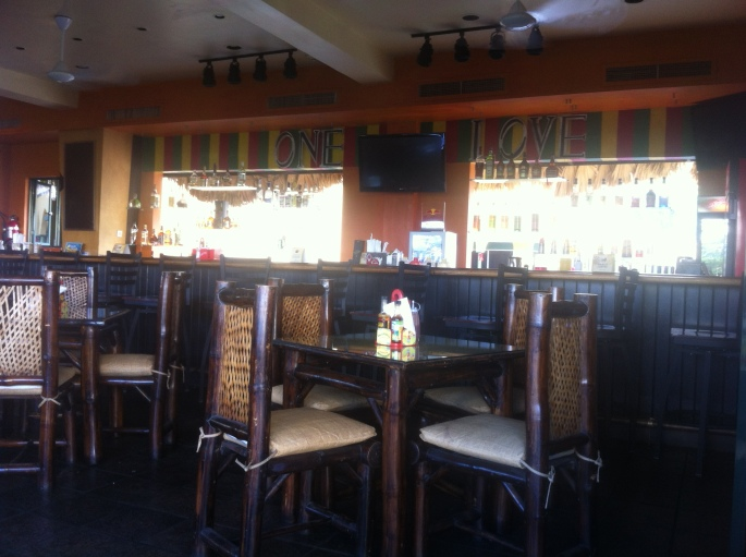 Interior of Mama Marley's in Ocho Rios, Jamaica.