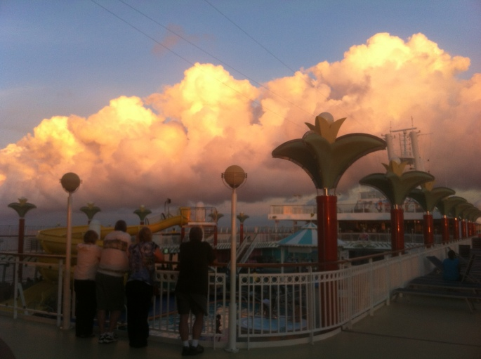 From the deck of the NCL Pearl on the 17 December 2012 in the area of the Bahamas.