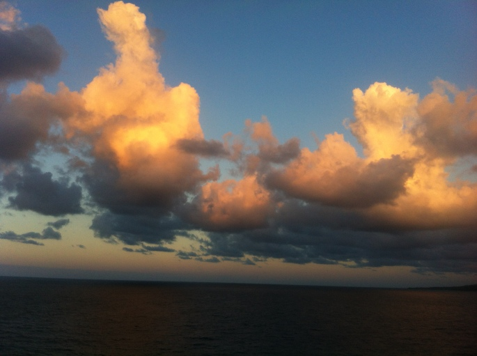 Amazing sky near Jamaica on the 19 December 2012