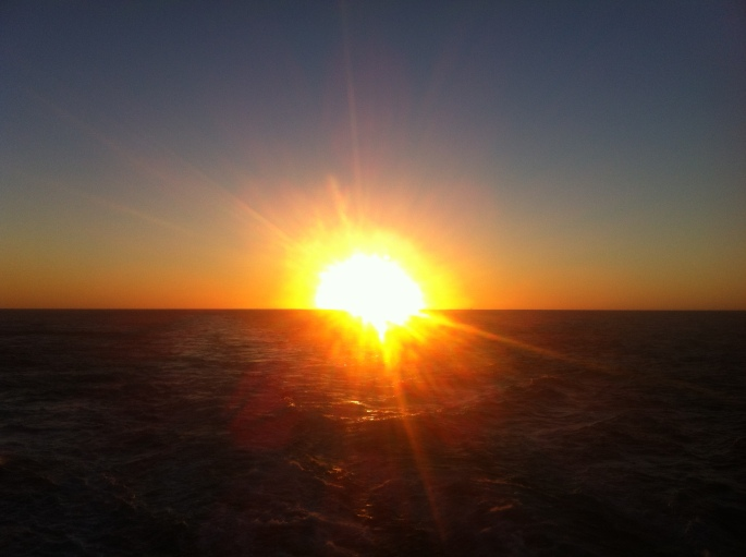 Sunset off the coast of Cuba taken from the NCL Pearl on 22 December 2012.