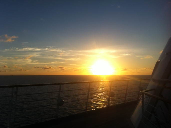 View from the NCL Sun on 19 November 2012 off the Curacao coast.