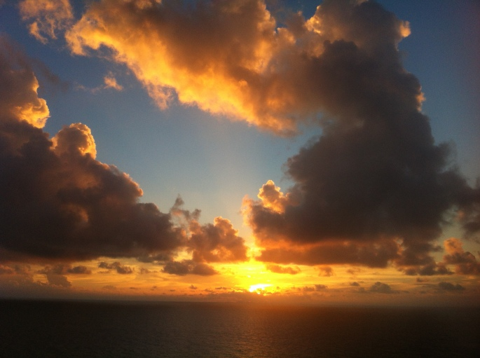 View from the NCL Sun near St. Martin on the 22 November 2012.