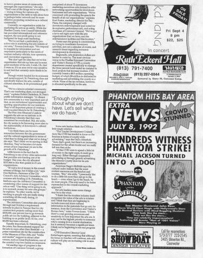 Continuation of the 1992 story on downtown St. Petersburg in Creative Loafing.