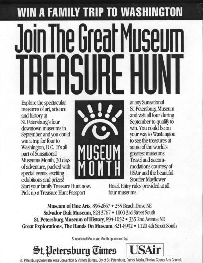 Another cooperative effort for Museum Month was sponsored by USAir.