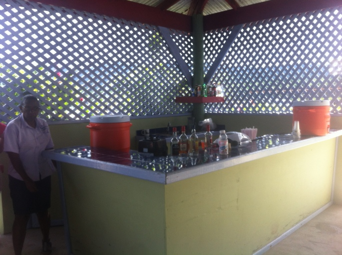The bar at the horseback riding attraction in Ocho Rios, Jamaica.