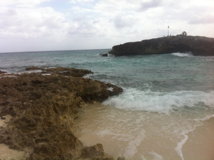 The Natural Bridge - El Mirador on the east coast of Cozumel Mexico.
