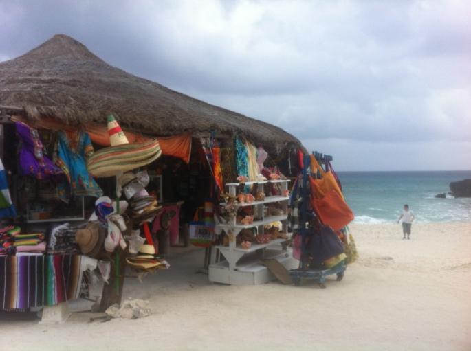 The little souvenir hut at El Diablo on the east coast of Mexico.
