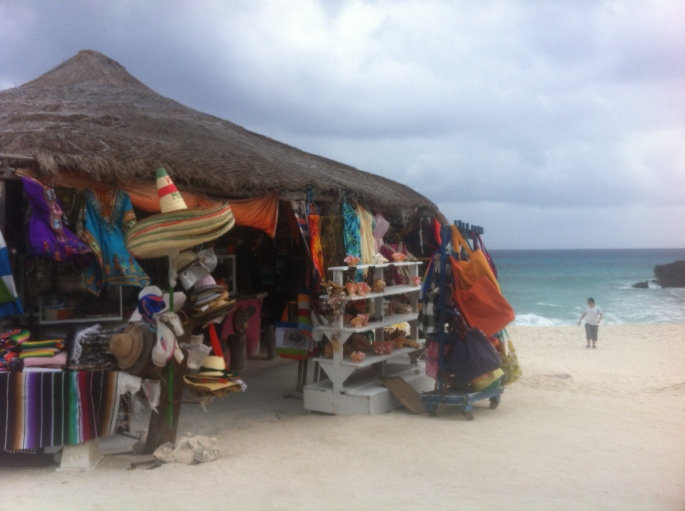 The little souvenir hut at El Diablo on the east coast of Mexico.