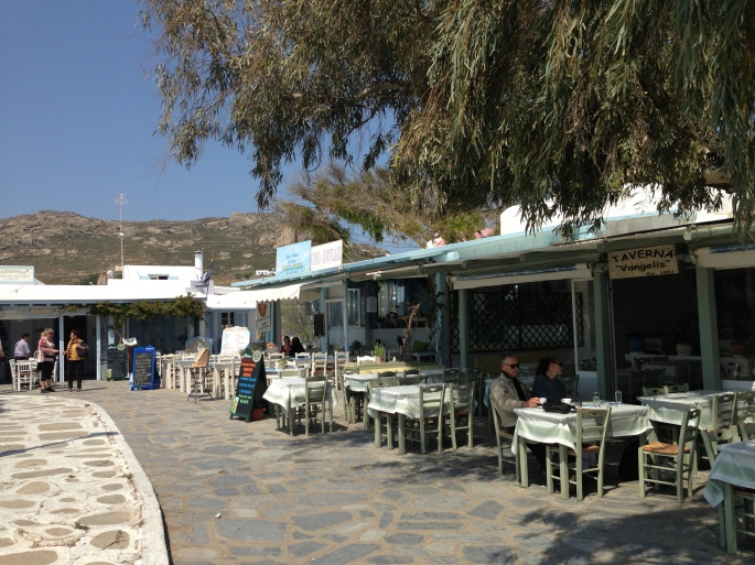 The village of Ano Mera on Mykonos