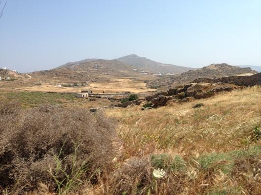 In the hills of Mykonos Island.