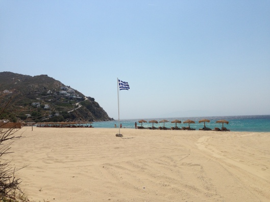 Kalafati Beach, Mykonos Island, Greece.