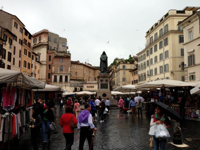 The Piazza Campo di Fiori, Rome, Italy