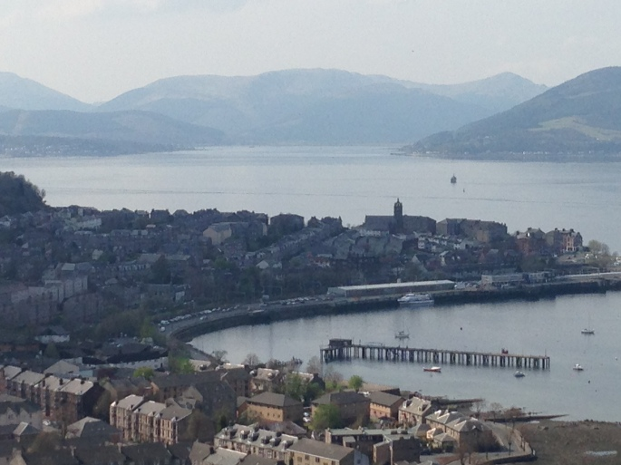 Firth of Clyde view from Lyle Hill Greenock Scotland