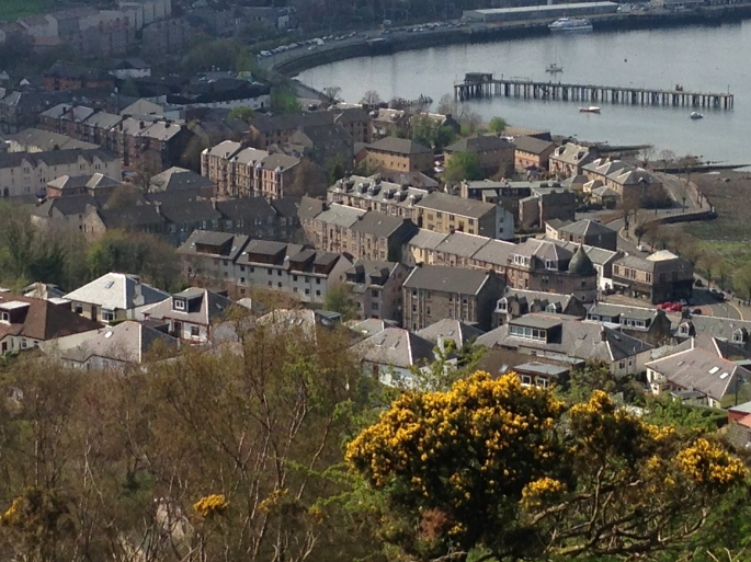 Detail of the west end of Greenock viewed from the Lyle Hill.