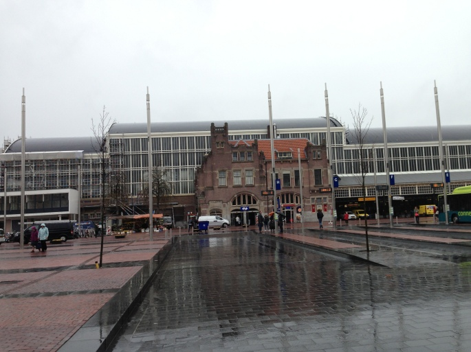 Haarlem Central Station with frequent bus service to parts of the town and trains to Amsterdam leave frequently and are quick.