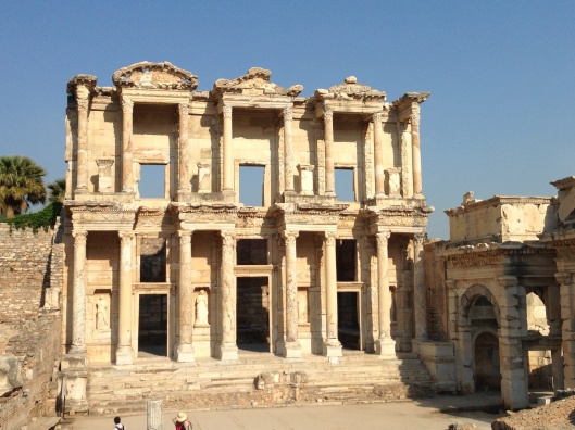 The great Library of Celsus, Ephesus, Turkey.