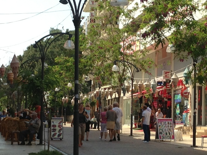 Lot of pedestrian precincts such as this exist in Kusadasi, Turkey.