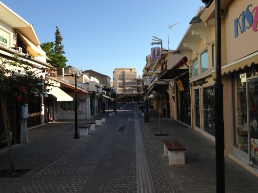 One of the main lanes running into the old town early in the morning.
