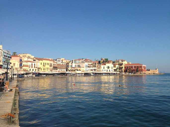 The harbour of Chania town is absolutely beautiful.