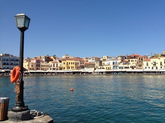 A view of the harbour at Khania, Crete, Greece.