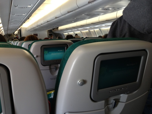 Interior cabin of Aer Lingus A330
