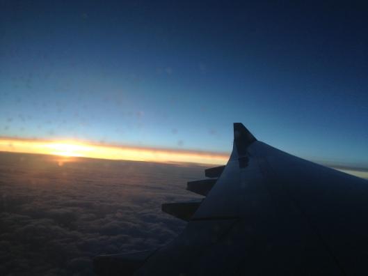 View crossing the Atlantic on Aer Lingus.