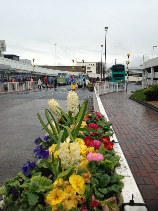 Easy transport to city centre of Dublin at the Coach Park at Terminal 2 in DUB.