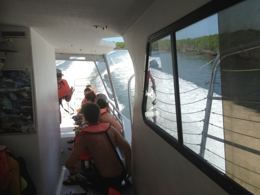 Everyone was anxious to get off the boat and go snorkeling.