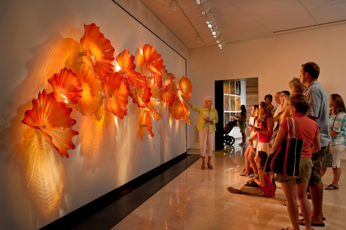 Docent tours at the Chihuly Collection in St. Petersburg are an excellent way to learn about glass and is sure to inspire you in many ways.