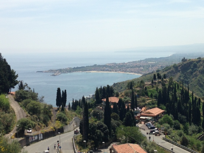 Incredible views from Taormina.