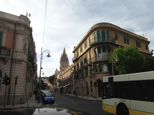 Typical street in Messina.  Great little shops and restaurants were within easy walking distance of the cruise port.