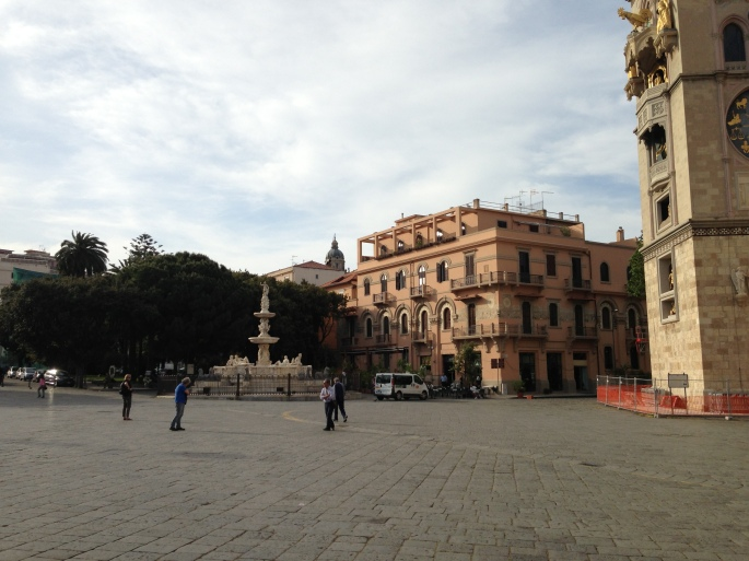 The main square in Messina features a beautiful cathedral and excellent architecture.