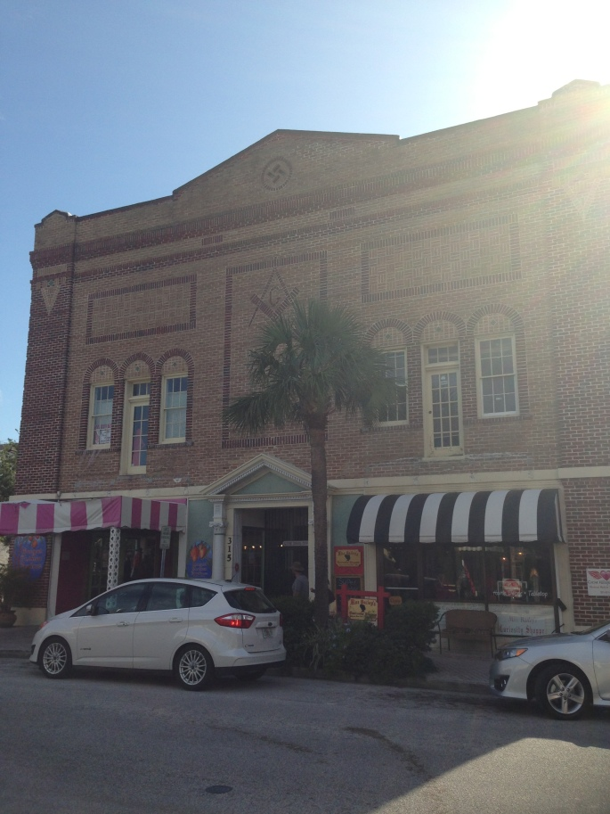 A former Masonic Lodge in downtown Cocoa, Florida.