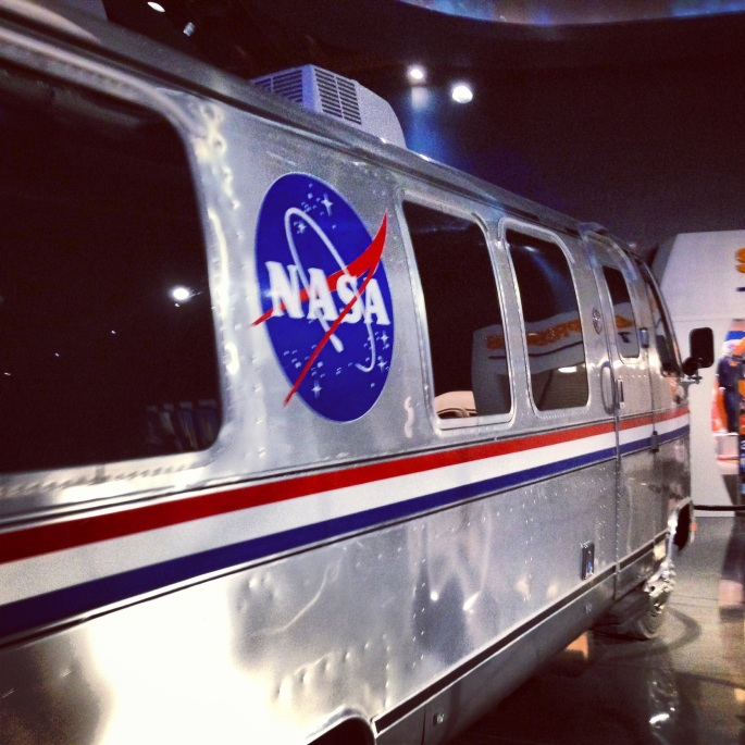 One of the many items used in space exploration or inspired by it.  This Airstream RV was fabulous.  Kennedy Space Center, Florida