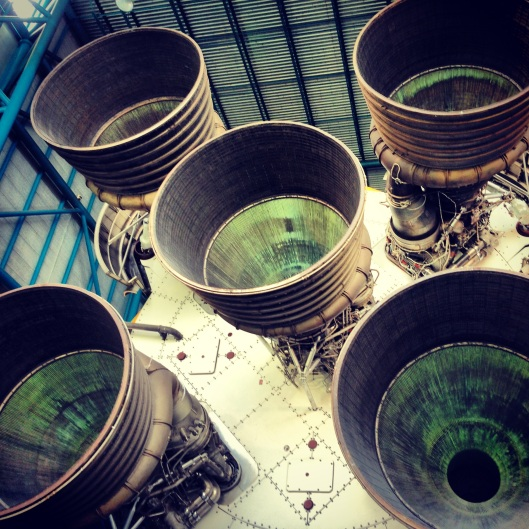 View of a Saturn 5 Rocket.  One of many incredibly inspiring and awesome artifacts on view that you can walk in and around at Kennedy Space Center, Florida.
