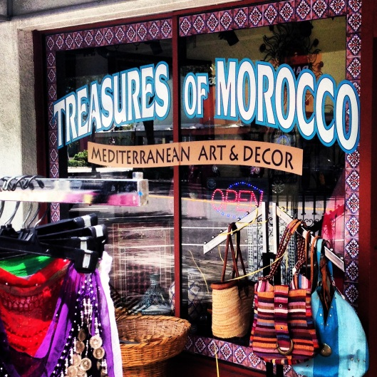 Treasures of Morocco is one of many boutiques and shops in the Central Arts District, St. Petersburg, Florida.