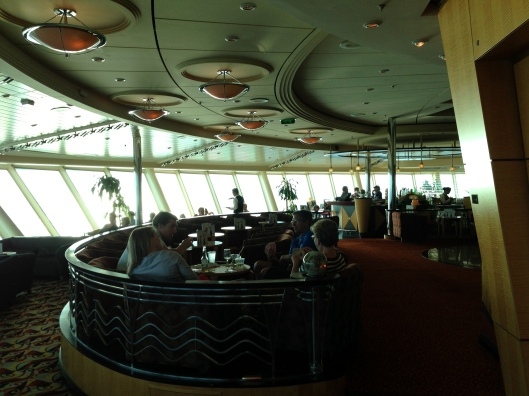 The Viking Crown Lounge on the Royal Caribbean Navigator of the Seas.