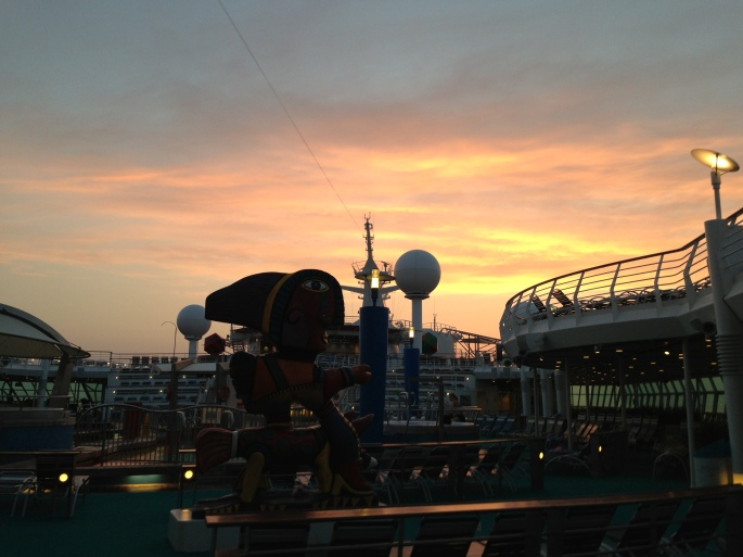 Every sunset looks fabulous when you're onboard the Royal Caribbean Navigator of the Seas.