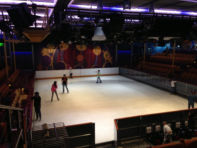 Ice Skating Rink on the Royal Caribbean Navigator of the Seas.