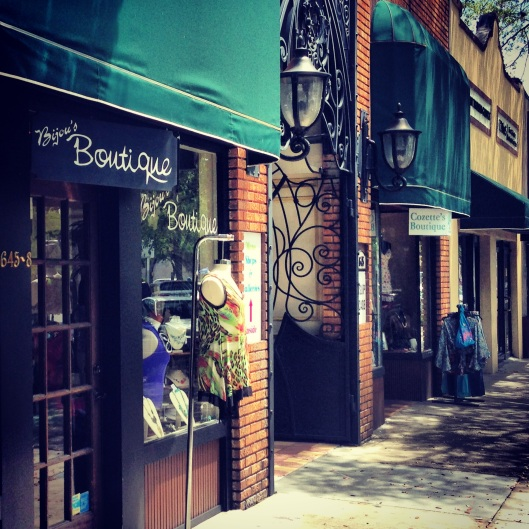 Shops at the fun and funky Crislip Arcade are home to artists, galleries and boutiques in the Central Arts District, St. Petersburg, Florida.