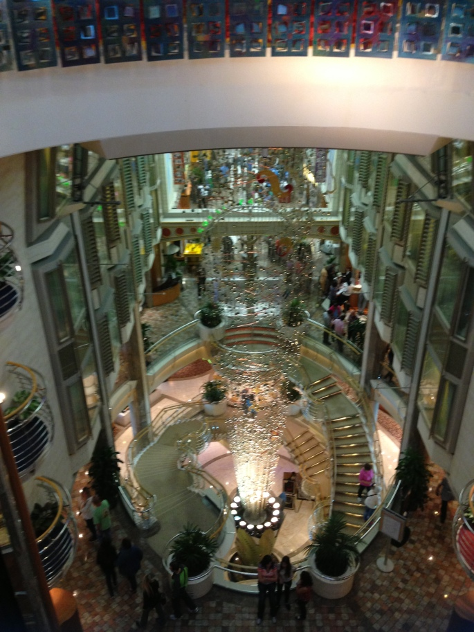 The Royal Promenade during the daytime is where so much is located and is fun to stroll down.