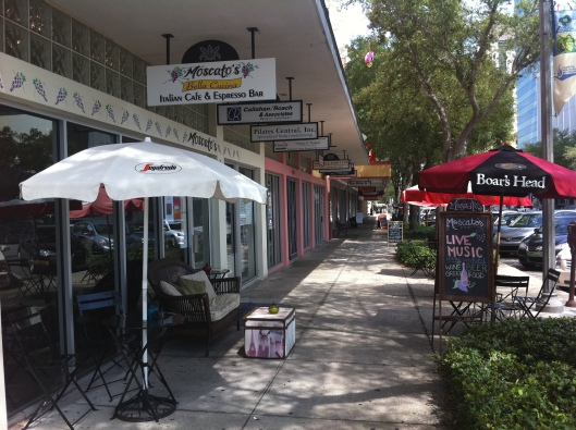 The 400 block of Central Avenue in the Central Arts District features many ethnic restaurants as well as some shops and a new gym in St. Petersburg, Florida.