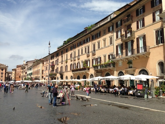 The fabulous Campo di Fiori offers plenty of places to do some shopping for herbs and cheeses and loads of restaurants for a stop for lunch along the 40 bus route.