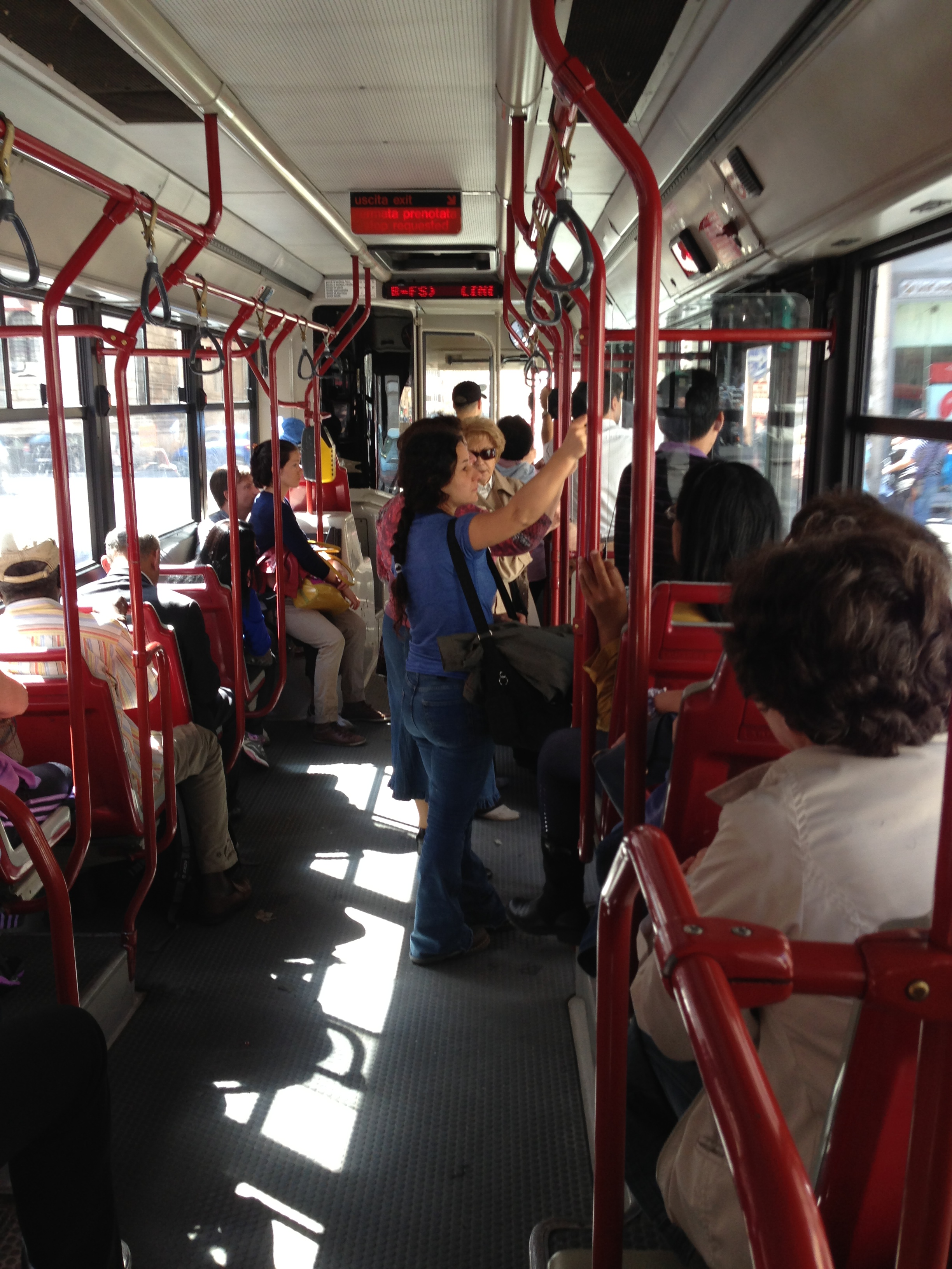 rome on the 40 bus route � how do i travel