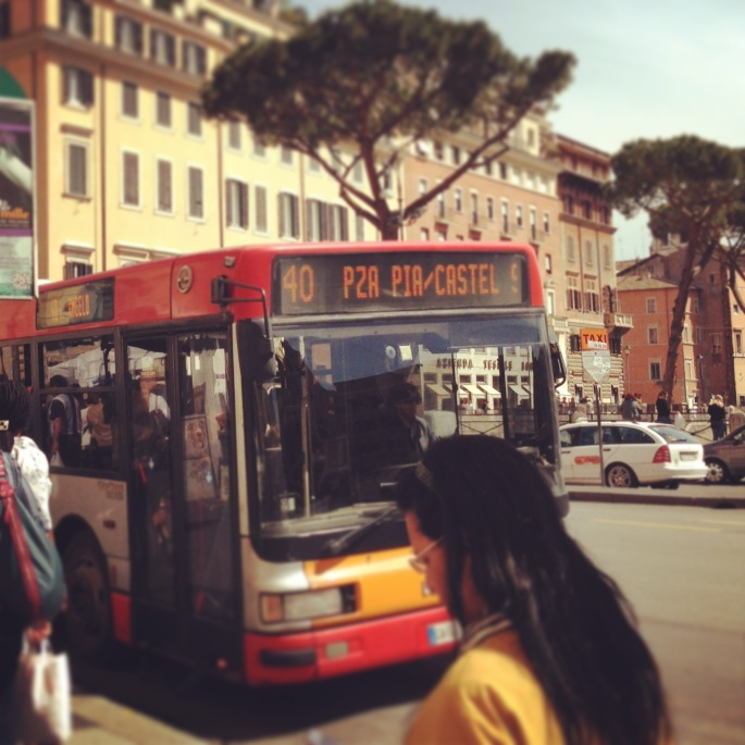 The popular Express 40 Bus Route in Rome is perfect for tourists.