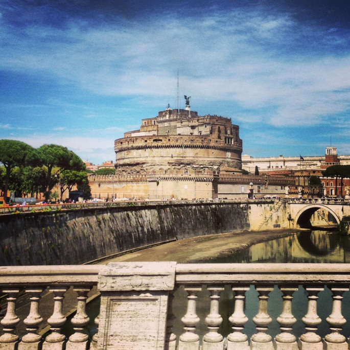 The Castel Sant'Angelo in Rome is easily reached via the #40 bus.