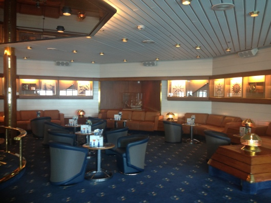 The Schooner Bar on Deck 5 of the Royal Caribbean Majesty of the Seas.